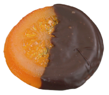 Whole Orange Slice Dipped In Dark Chocolate